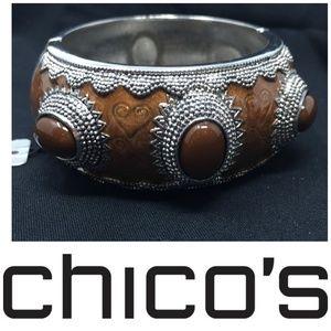 NWT Chico's Anamarie Bracelet Enamel Bangle New